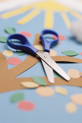 Scissors and craft paper