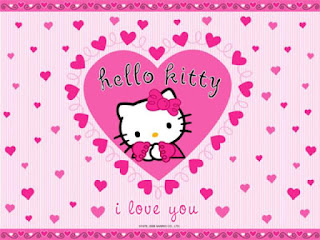Gambar DP Hello Kitty Ucapan Tahun Baru I Love You Happy New Year 2016