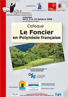 Colloque sur le foncier en Polynésie française