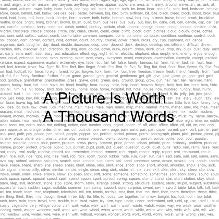 One thousand words essay