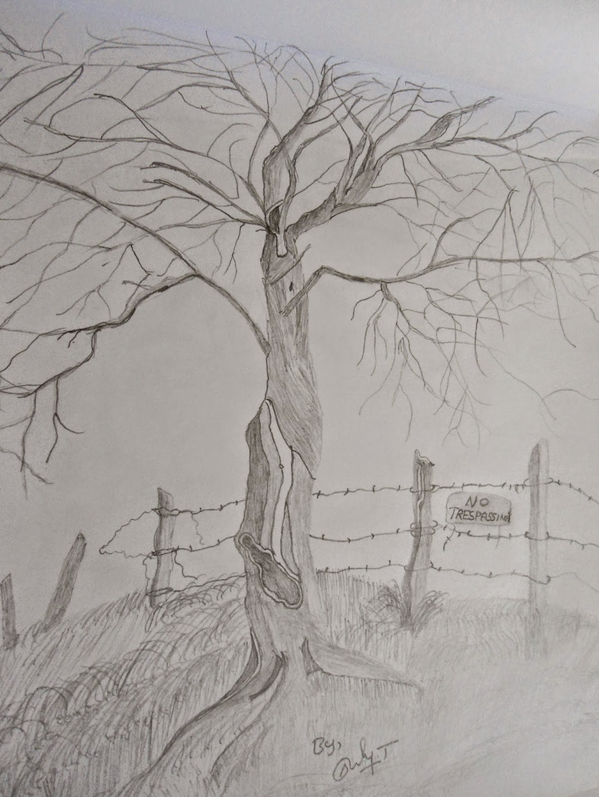Landscape Pencil Drawing and Natural Pencil Sketching ...