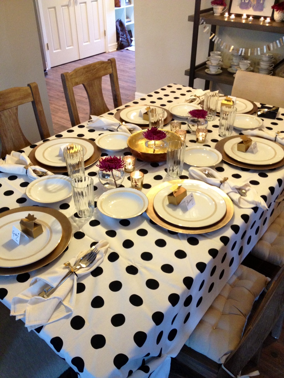 The Happy Homebodies Kate Spade Inspired Dinner Party - Kate spade table linens