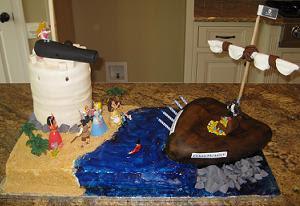 Pirates Birthday Cake Decoration