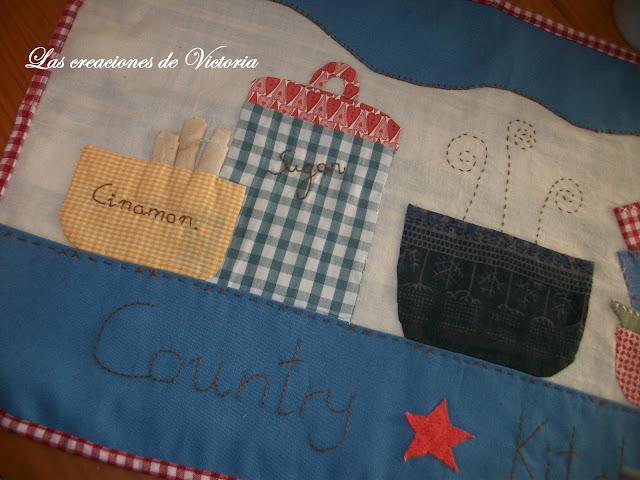 Las creaciones de Victoria. Patchwork.Mantel individual