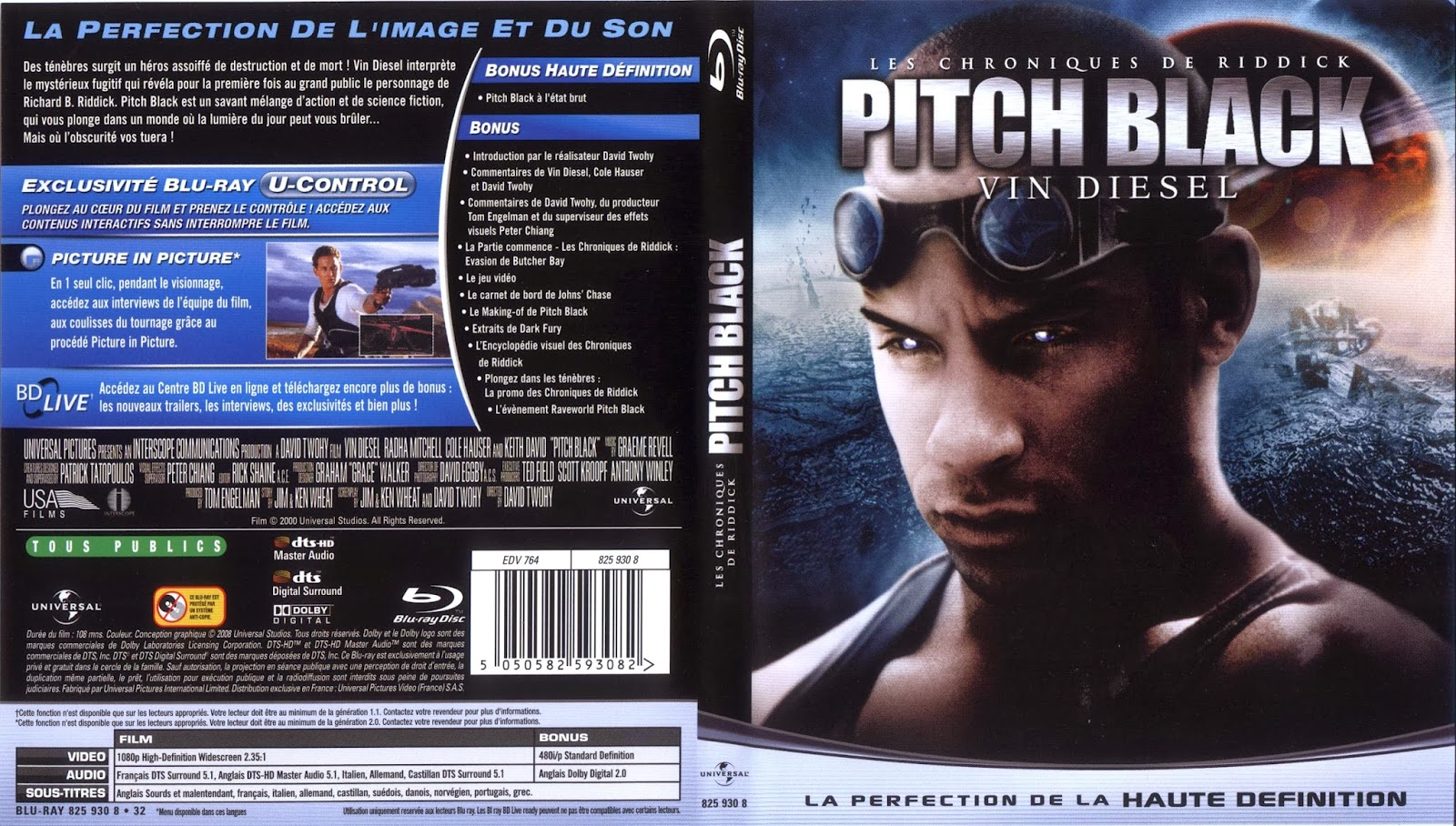 Pitch Black (Version Extendida) DVD