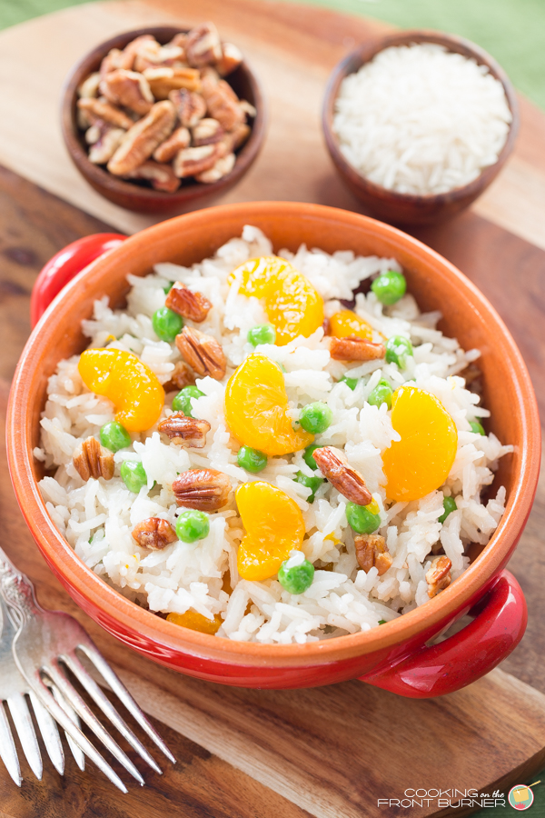 Pecan Orange Basmati Side Dish | Cooking on the Front Burner