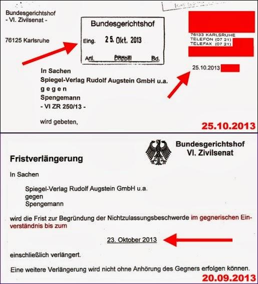 Markus Grill, Jobst Spengemann, BGH, Antrag auf Revision-Nichtzulassungsbeschwerde