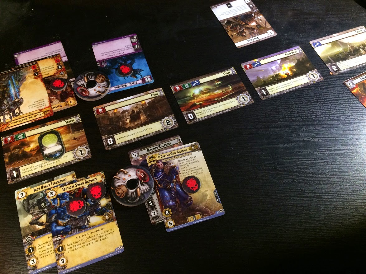 Warhammer 40,000 Conquest Review 5 planet line up