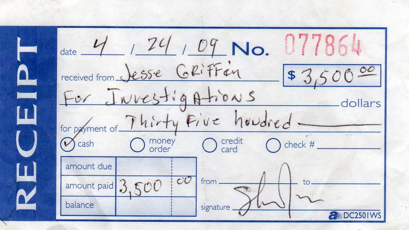 non refundable deposit receipt template .