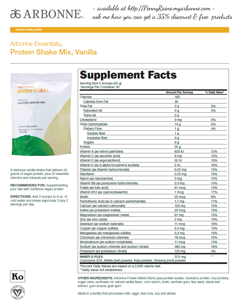 Nutrisystem Protein Shakes Nutrition Facts