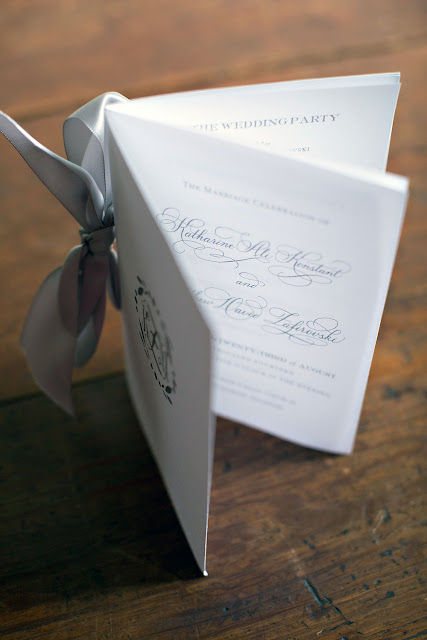 Elegant Wedding Ceremony Program