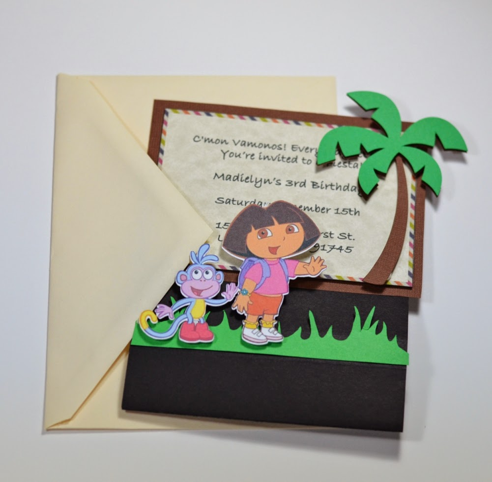 Jingvitations: Print and Cut Silhouette Cameo, Handmade Dora the ...