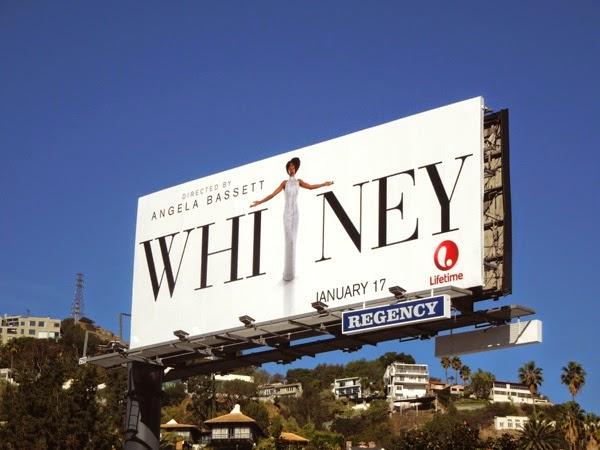 Whitney Houston Lifetime movie billboard