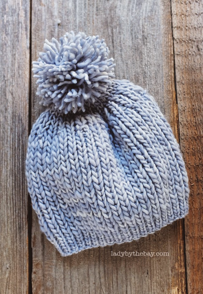 Simple Hat Knitting Pattern In The Round : Lady By The Bay: Anthropologie Inspired Knitted Hat Pattern