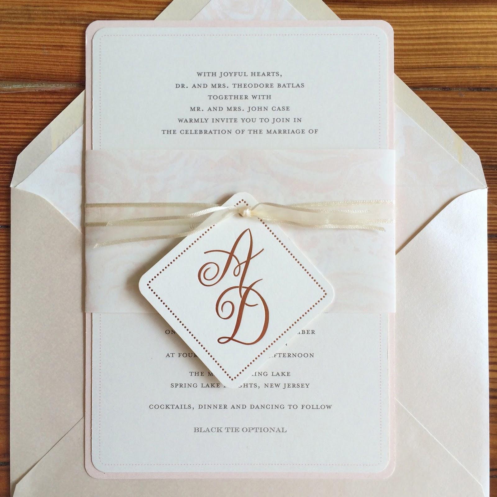 Invitations, Ink, Social Design Studio: Alyssa & David\'s Blush ...