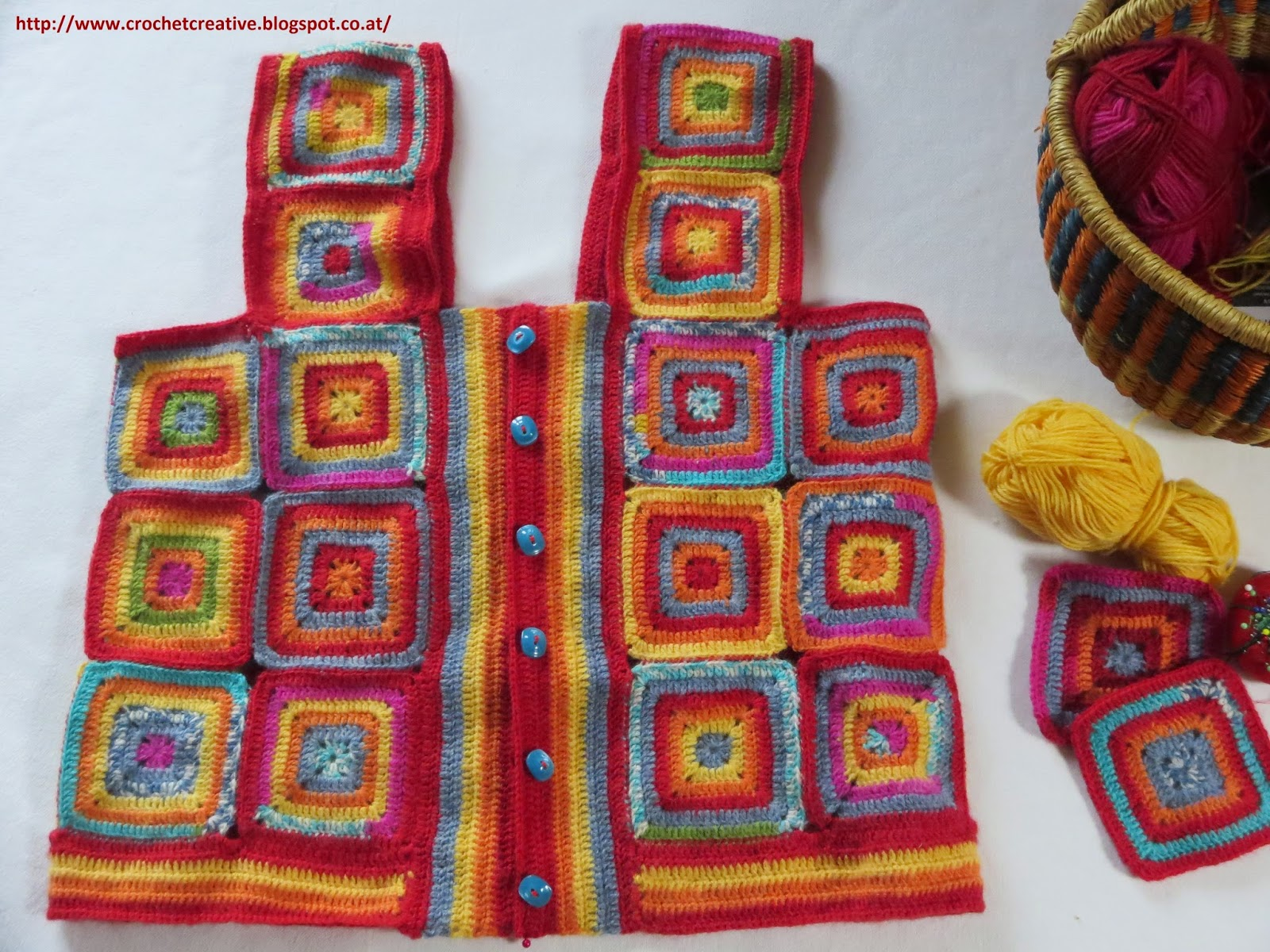Patchwork Book Cover Pattern ~ Crochet more simple patchwork vest and book cover