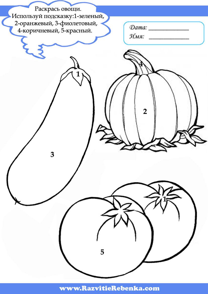 Раскраски овощей с загадками