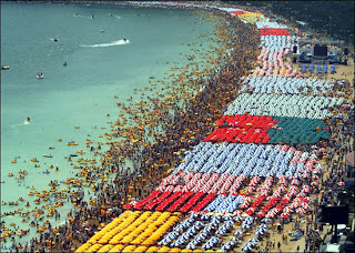 praia excesso pessoas na china
