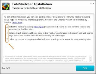 FotoSketcher - Instale só o que quiser