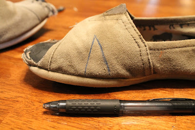 Watercolor Problems.: Destructed TOMS Shoes