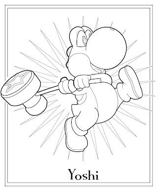 Desenho do Yoshi/Super Mario para colorir
