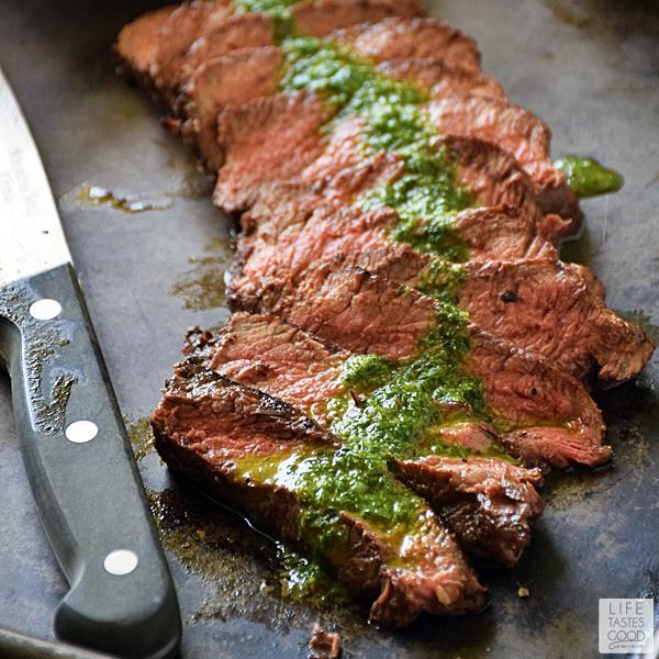 Pan-Seared Steak with Chimichurri