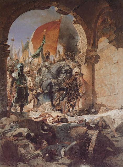 Pintura La entrada de Mahomet II en Constantinopla Obra de Benjamín Constant