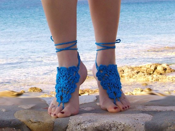 "CROCHET"": TOQUE ARABE EN LOS PIES"