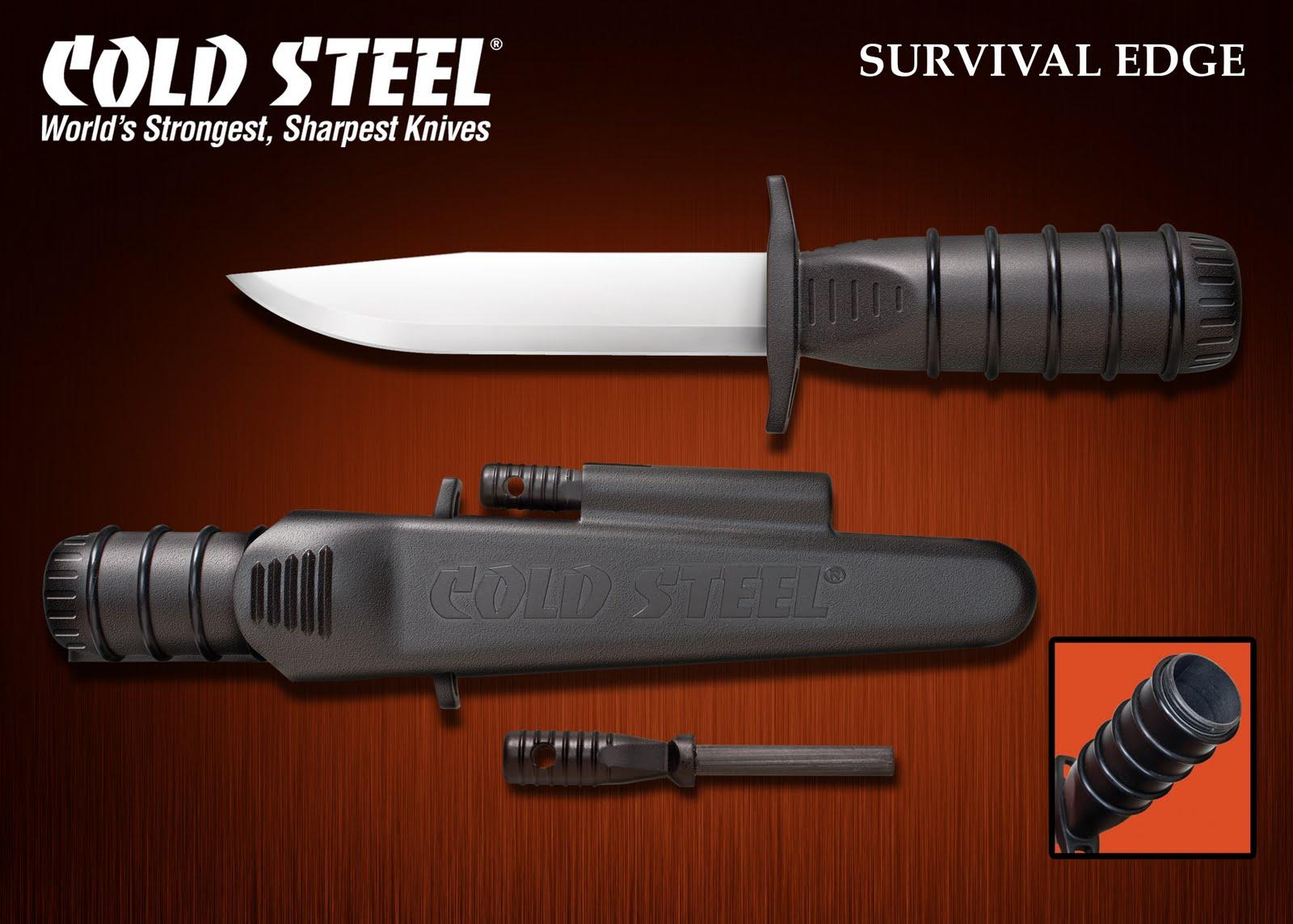 Нож cold steel survival edge black нож для разделки и зачистки кабеля