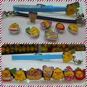 CLICK TO SEE Rilakkuma Kiiroitori Slide Strap & Lovely Charms