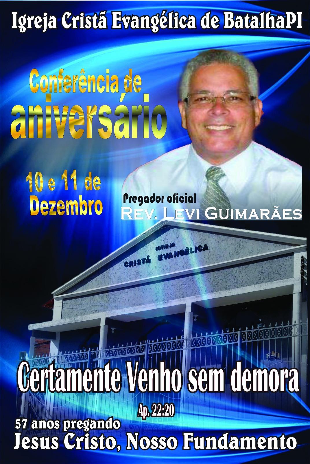 IGREJA CRISTÃ EVANGÉLICA DE BATALHA - 57 ANOS