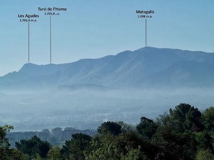 El Montseny vist des de la zona dels Pins del Verdeguer