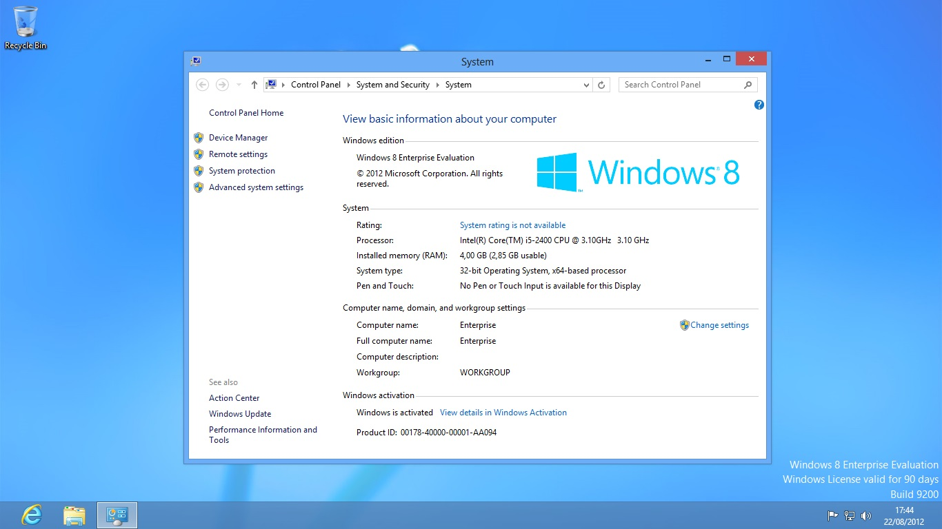 Download Free Windows 8 Enterprise Edition
