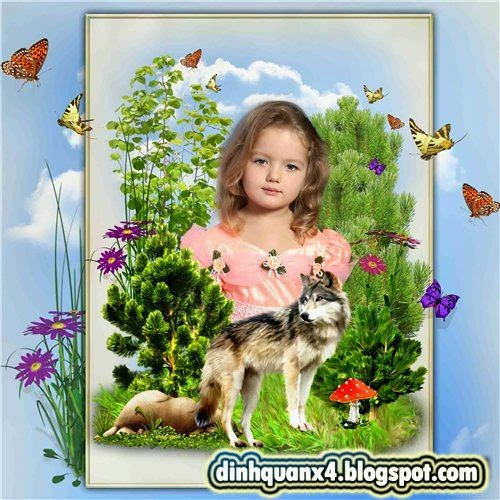 Collage frame for Photoshop - Nature Idyll