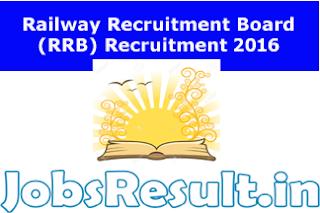 Railway Recruitment Board (RRB) Recruitment 2016
