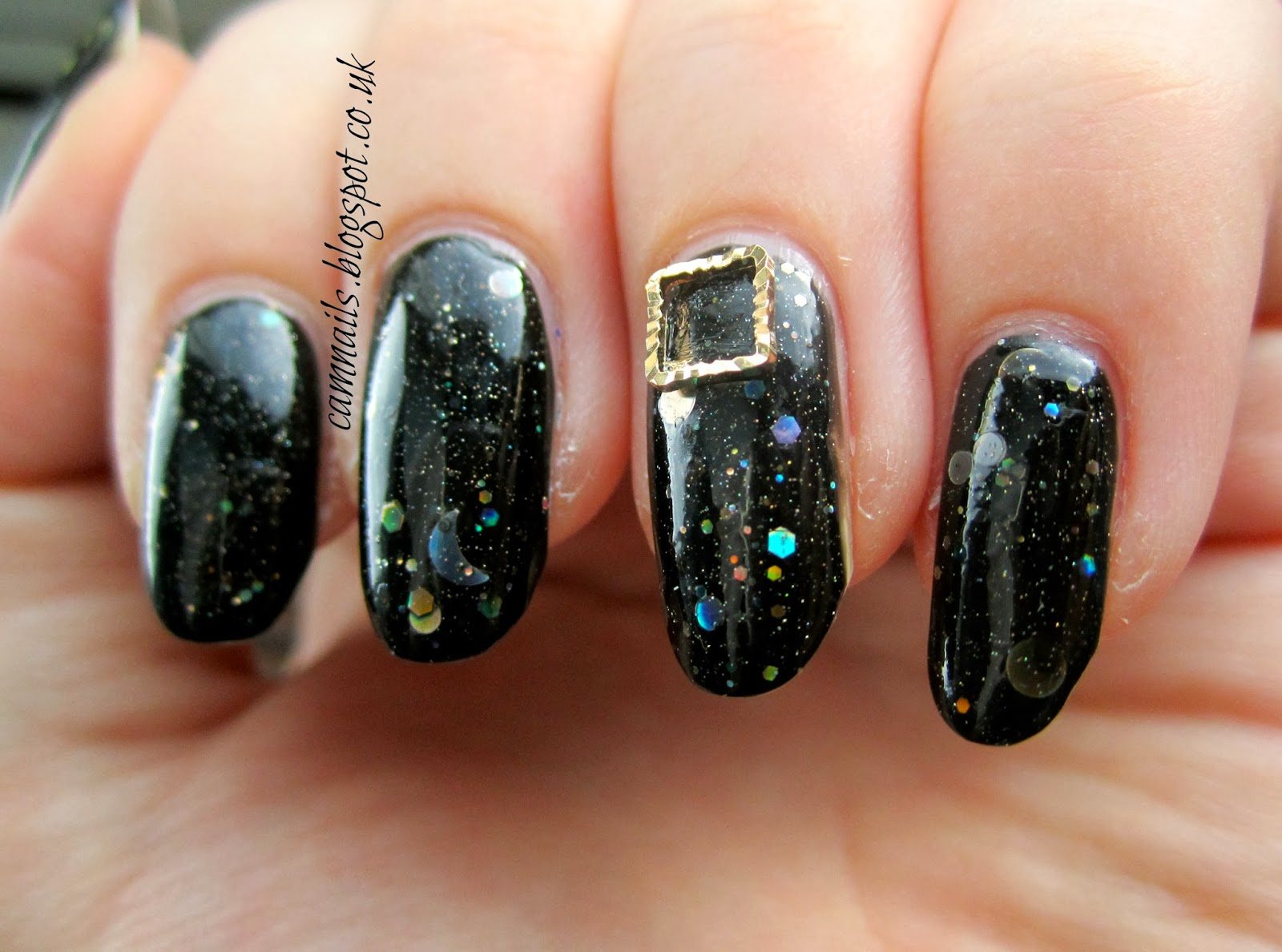 Cambridge Nails: 33DC 3D with Born Pretty Store Leaf Studs