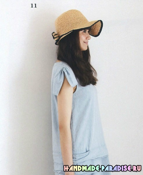 Схемы вязания летних шляпок крючком