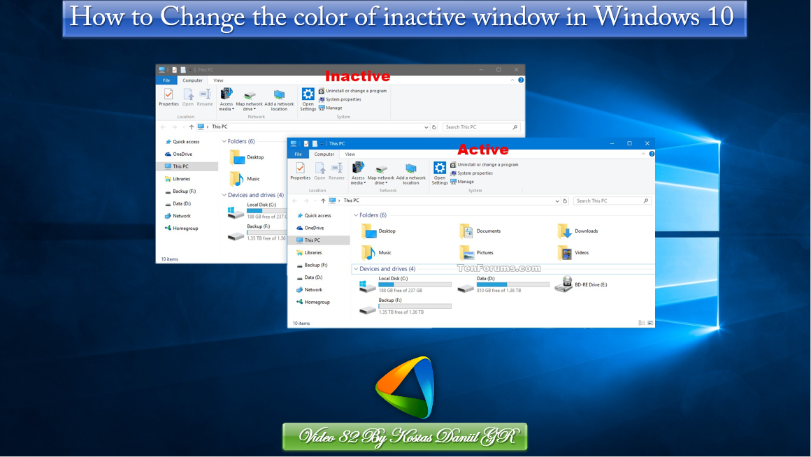 how to change the color in windows 10