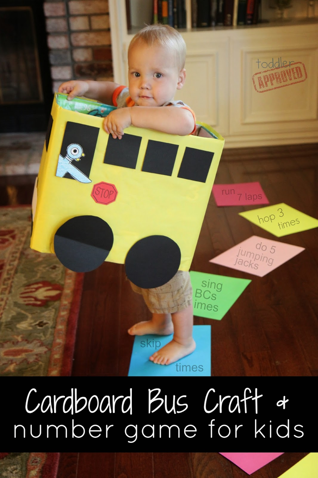 Cardboard Bus Craft inspired by Mo Willems