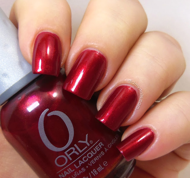 Orly Torrid swatch