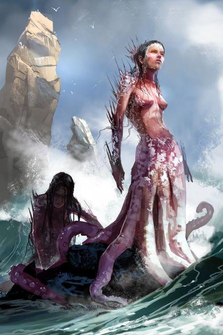 Brenoch Adams ilustrações fantasia ficção Sereia