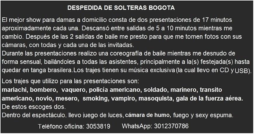 DESPEDIDA DE SOLTERAS EN BOGOTA