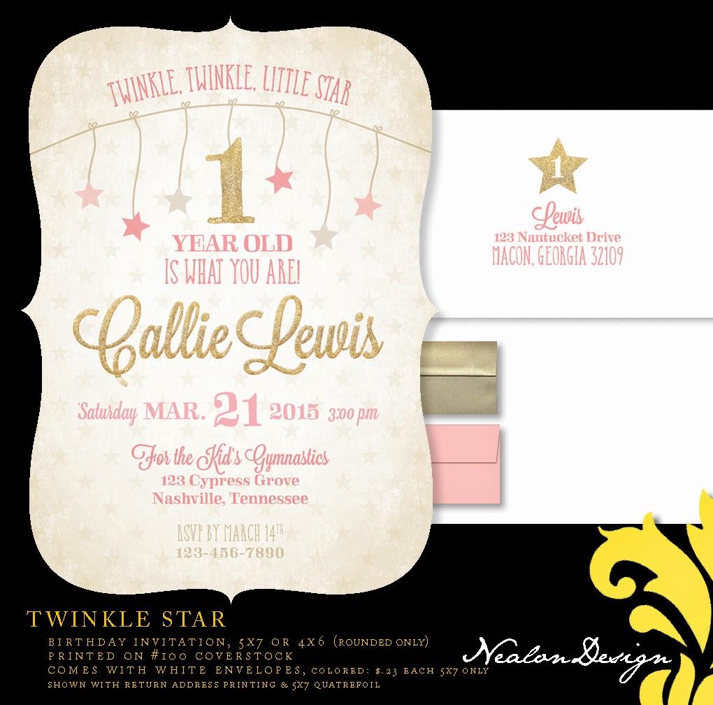 Nealon Design: TWINKLE STAR Birthday