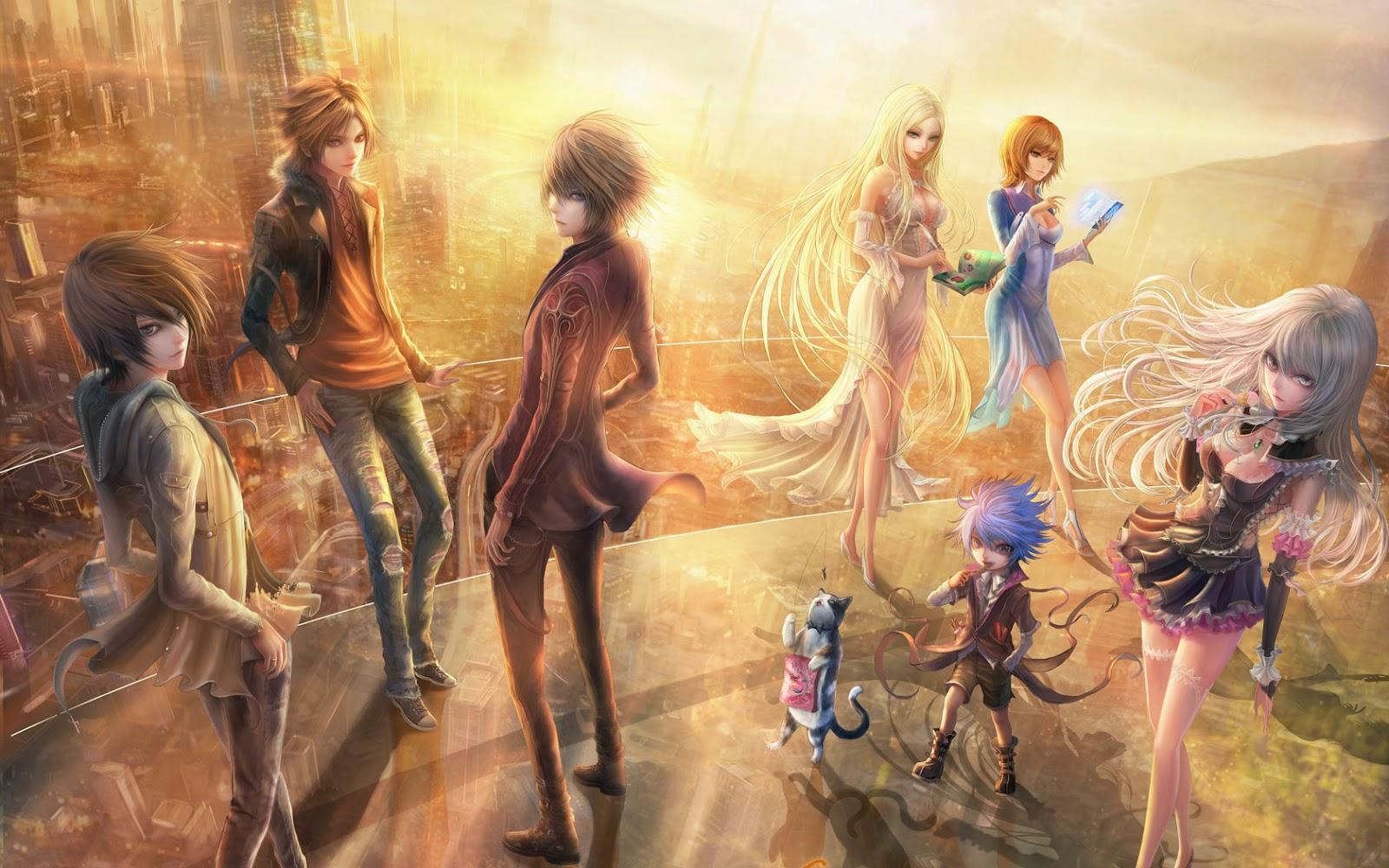 Papel de Parede Anime Ilustração Japonês para pc hd grátis Anime Manga desktop hd wallpaper image free
