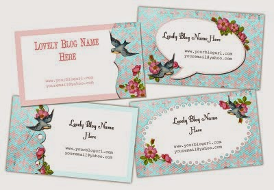 vintage style business cards, birds business cards