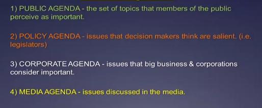 agenda setting in public policy pdf
