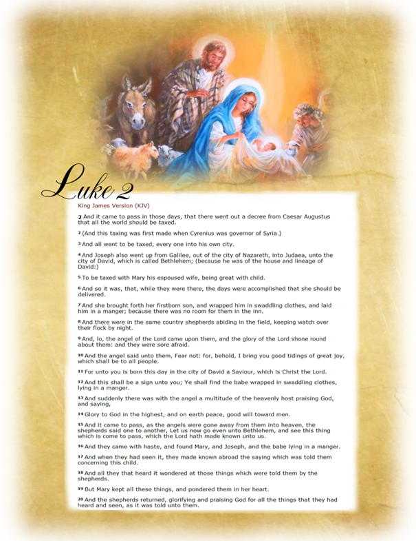 It is a photo of Dramatic Printable Nativity Story