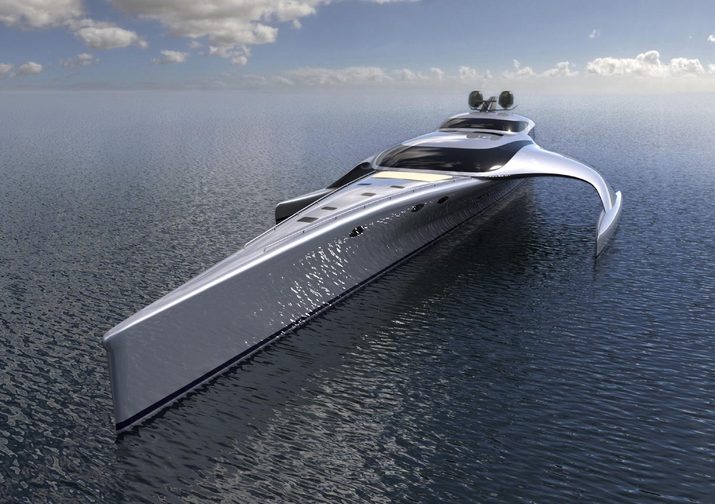 Peter G Planakis Architect Quot Adastra Quot Mcconaghy Boats 42m Trimaran John Shuttleworth Yacht