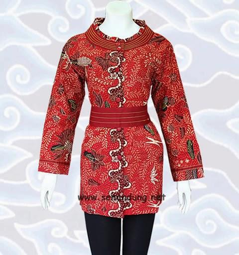 blus batik modern model terbaru