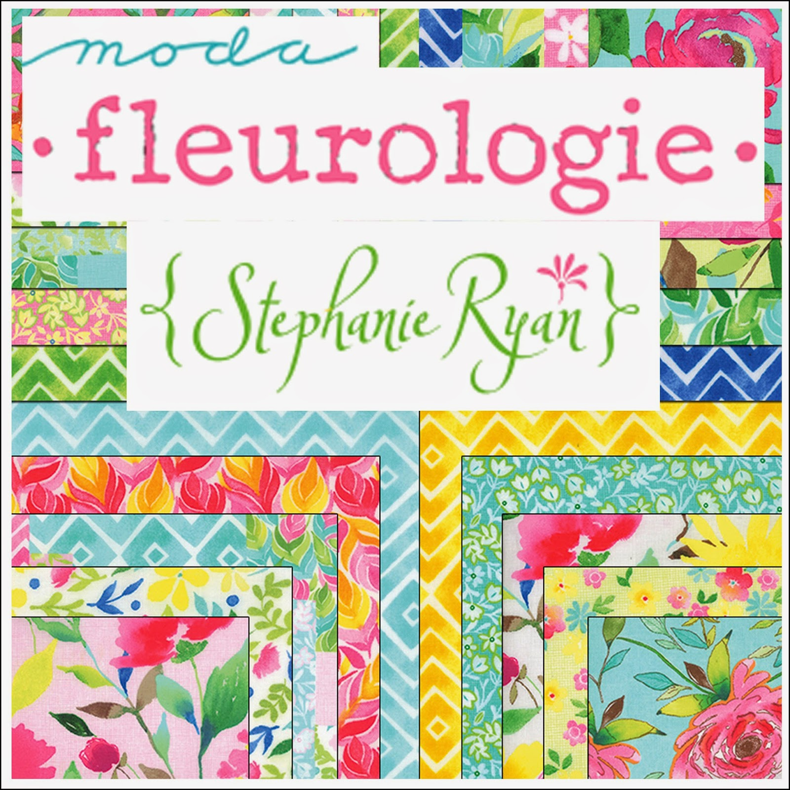 Moda FLEUROLOGIE Quilt Fabric by Stephanie Ryan